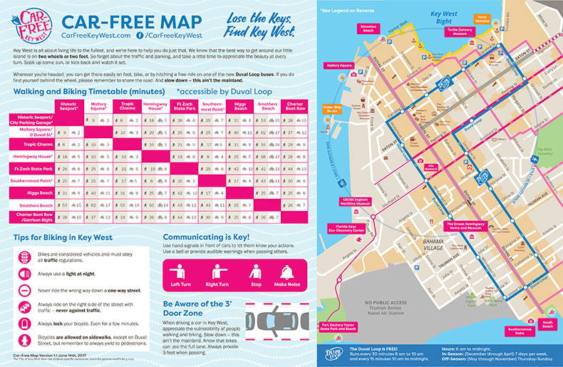 Car-Free Downtown Map